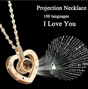 Projection 100 language I love you charm pendant